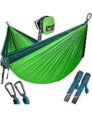 "WINNER OUTFITTERS Double Camping Hammock - Lightweight Nylon Portable Hammock, Best Parachute Double Hammock for Backpacking, Camping, Travel, Beach, Yard. 118""(L) x 78""(W)"