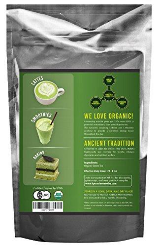 Organic Matcha Green Tea Powder, Authentic Japanese Origin, Premium Quality Culinary Grade (Smoothies, Lattes, Baking, Recipes) - Antioxidants, Energy Boost - Kyoto Dew Matcha [100g Value Size]