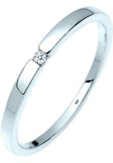 Diamore Damen Ring 585 Weissgold Diamant 0 03 Ct Amazon De Schmuck