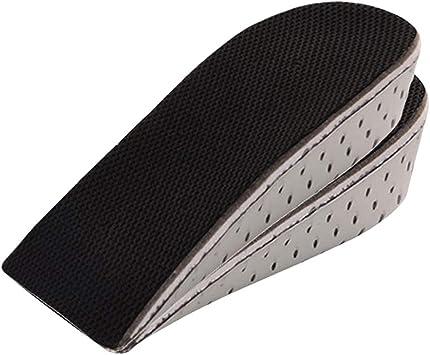 2.9cm シークレットインソール 抗菌・防臭・通気・滑り止め 中敷き 衝撃吸収 男女兼用 身長アップ 半パッド取り外し可能 半敷 かかと上げ 美脚効果