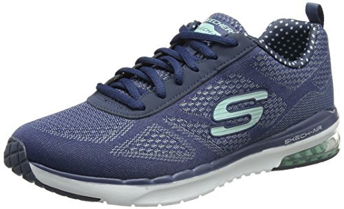f62f50e9cc5 Skechers Womens Skech-Air Infinity Navy/Aqua Cross Trainer - 9.5