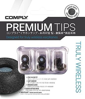 Truly Wireless Pro Premium Earphone Tips Black Comply
