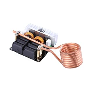 KOOBOOK 1Pcs 1000W ZVS Low Voltage Induction Heating Board Module Flyback Driver Heater 12V-48V DIY