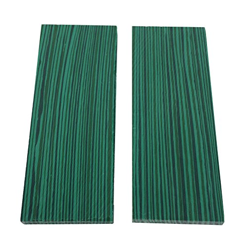 2pcs 35mmx90mmx5mm Green Reconstitute Malachite Turquoise Gemstone Resin Recon Stone Furniture Jewelry Instrument Guitar Pool cue Inlay Billet Sheet Material Knife Handle Blank Scales Scale Slab
