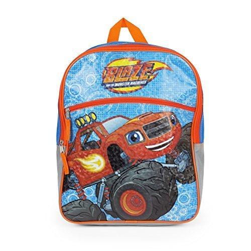 Nickolodean Blaze Backpack Large Monster - Blue Blaze Characters