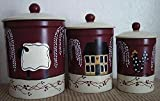Primitive Country Decor All Things Farmhouse Stoneware Canister Set of 3