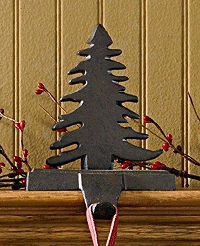 Park Designs Iron Christmas Stocking Hanger, Fir Tree - Iron Stocking Holders