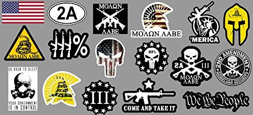 - OwnTheAvenue 17 2nd Amendment Stickers Decals - Mega Pack Molon Labe Spartan 300 (Mega2ndAm)