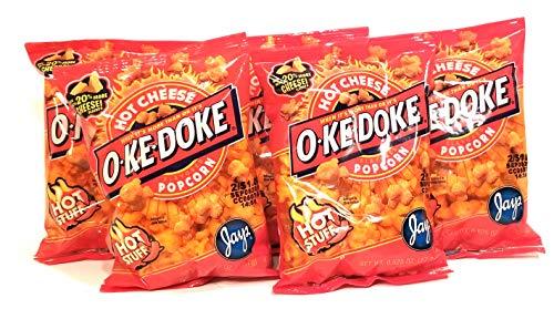 JAY'S O'KE DOKE Hot Cheese Flavored Popcorn 5 .625 oz bags