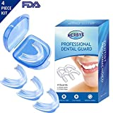 Dental Guard Teeth Guarding Night Protector -Athletic Mouth Guard Teeth Whitening Tray, Stop Teeth Grinding, Bruxism, Snoring & Eliminates Teeth Clenching , 4PCS For Adult