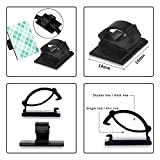 eBoot 100 Pieces Adhesive Cable Clips Wire Clips Cable Wire Management Wire Holder Cable Clamps Cable Tie Holder for Car, Office and Home