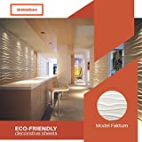 Decorative 3D Wall Panels Pack of 32 Square Feet - White (Faktum - 6 Tiles)