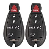 Keyless2Go New Keyless Entry Fobik Key Fob Remote Replacement for Select Jeep Commander, Grand Cherokee Fobiks with FCC M3N5WY783X (2 Pack)