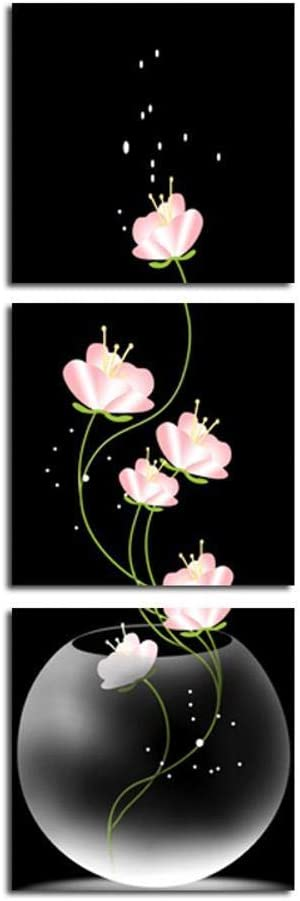 Shisky Lienzo Moderno, Pintados Pintura al óleo, Pintura de la Flor Vertical de Fondo (3) Equipo de inyección de Tinta Decorativa Dibujo Base (sin Marco)