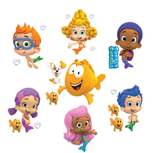 Bubble Guppies Set Of 8 Removable Wall Stickers 10 Inch