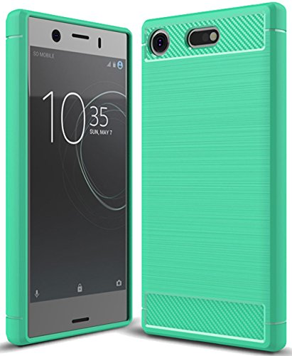 Sony Xperia XZ1 Compact Case, Sony Xperia XZ1 Mini Case, Sucnakp TPU Shock Absorption Technology Raised Bezels Protective Case Cover for Sony Xperia XZ1 Compact Phone (Mint Green)