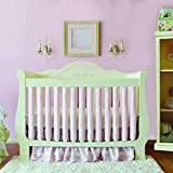 Pure Safety Vertical Crib Liners in Luxurious Pink