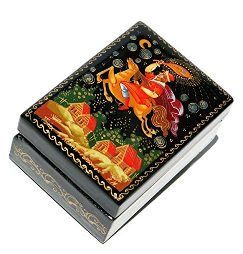 GreatRussianGifts Konyok-Gorbunok Russian Fairy Tale Palekh Art Miniature Collectible Lacquer Box