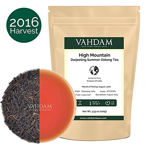 Image of   High Mountain Oolong Tea Leaves from the Himalaya  s, Oolong Tea Loose Leaf , Hand Picked Oolong Tea for Weight Loss,  A Perfect Everyday Loose Leaf Oolong Tea, 3.53oz (50 Cups)