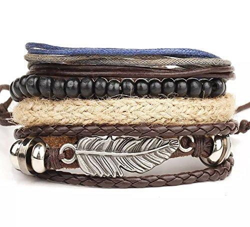 Braided Leather Bohemian Wrap Bracelet