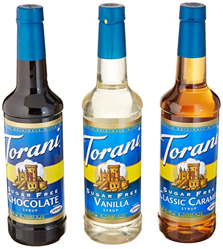 Torani Sugar Free Syrup Variety Pack, 25.4 Ounce (Pack of 4)