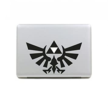 Casa DIY Trifuerza The Legend Of Zelda vinilo adhesivo vinilo blanco y negro de vinilo DIY para Apple MacBook Air/Pro/Retina 13 in mh-586: Amazon.es: ...