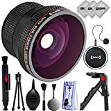Opteka 0.20x Super Wide Angle Panoramic Macro Fisheye Lens For Canon Digital SLR Cameras 50mm 80D, 77D, 70D, 60D, 7D, T7i, 7D Mark II, T6s, T6i, T6, T5i, T5, T4i, T3i, T3, SL1 & SL2
