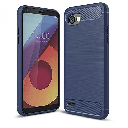 LG Q6 Case, LG G6+ Case, LG Q6 Plus Case - Suensan TPU Shock Absorption Technology Raised Bezels Protective Case Cover for LG Q6 Mini (TPU Blue)