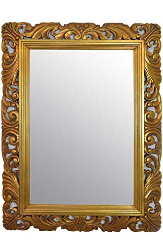9e7a3a817f6 4FT quot  X 3FT quot  (122cmx92cm) Large Gold Framed Hairdressors Salon  Mirror Carved Solid