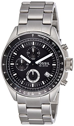 Fossil Men's 'Decker' Quartz Stainless Steel Casual Watch, Color:Silver-Toned (Model: CH2600IE)