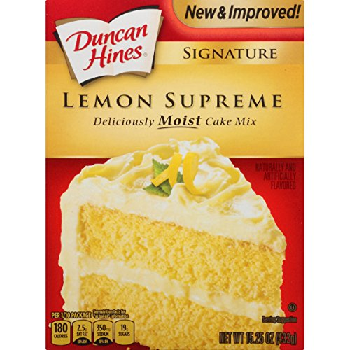(Duncan Hines Signature Cake Mix, Lemon Supreme, 15.25 Ounce)