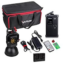 Aputure Light Storm LS COB 120D Daylight LED Video Light with Bowens Mount / V-mount Plate and Carrying Bag + ILED-A F-V Battery Converter Adapter