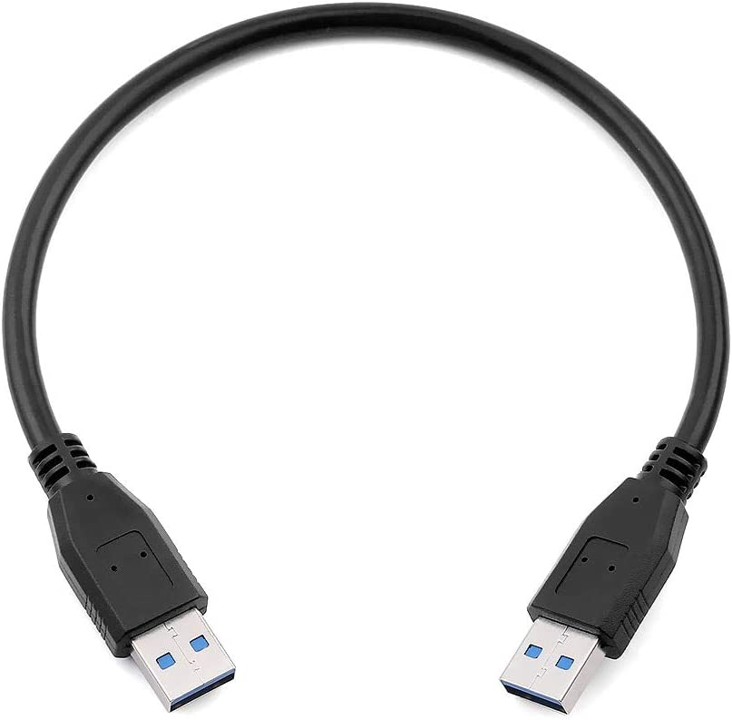 Cables 1PC USB 3.0 Type A Male to Male Extension Data Cable Super Speed Sync Cord BTC Mining Cable for HDD Laptop PC TV Box Cable Length: 50cm, Color: Black
