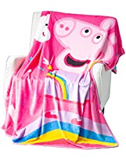 EXPRESSIONS Kid's Throw Blankets Peppa Pig Fleece Blanket for Kids Toddlers Teens, All Seasons Super Comfy Flannel Blanket, Best Gifts for Girls, 50x60 inches(Official Peppa Pig Product)