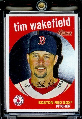 Tim Wakefield Rookie Card - 2008 Topps Heritage # 343 Tim Wakefield - Boston Red Sox - MLB Baseball Trading Card