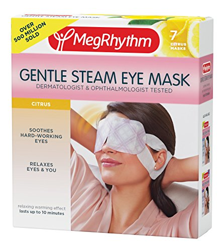 MegRhythm Gentle Steam Eye Mask, Citrus, 7 Count
