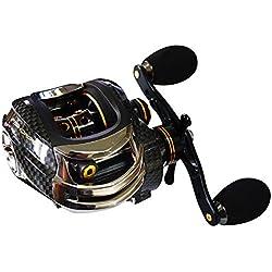 Baitcasting reel Brake Fishing Lure revolving-spool reel Baitcaster(Left-Handed Reel)