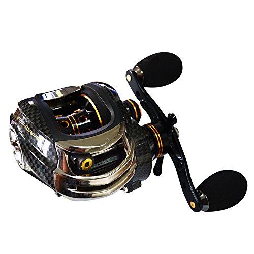 Baitcasting reel Brake Fishing Lure revolving-spool reel Baitcaster(Right-Handed (Spin Left Handed Reel)