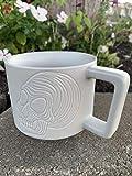 2019 Starbucks Halloween Limited Edition White Tonal Skull Stackable Ceramic Coffee Cup Mug, 12 Fl Oz