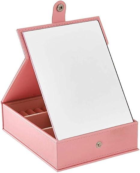 Mnjin Espejo de baño Organizador de Joyas Multifuncional Caja HD ...