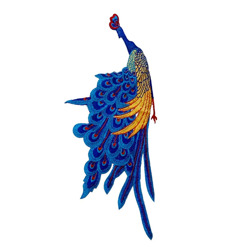 Scrox 1pcs Bordados para Ropa Plumas Pavo Real Patch Sticker Parches ...
