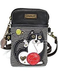 841c8cc2c Crossbody Cell Phone Purse - Women PU Leather Multicolor Handbag with  Adjustable Strap (Blue -