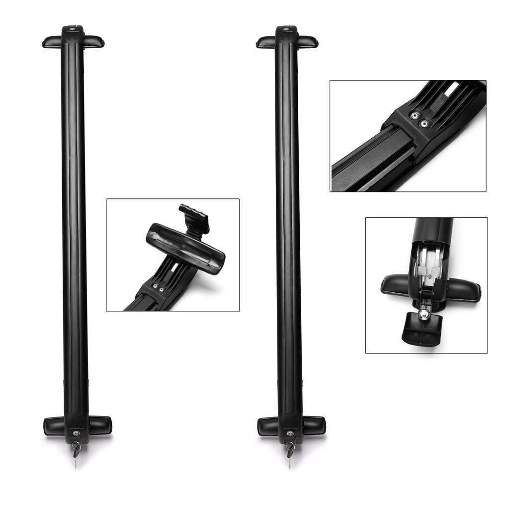 Yiyai Aluminium Car Roof Rack 41.3 Inch Car Cross Bar for Ford Focus 2000-16 Without Rails Lockable Anti-Theft Design Lower Wind Noise Luggage Carrier Pack of 2