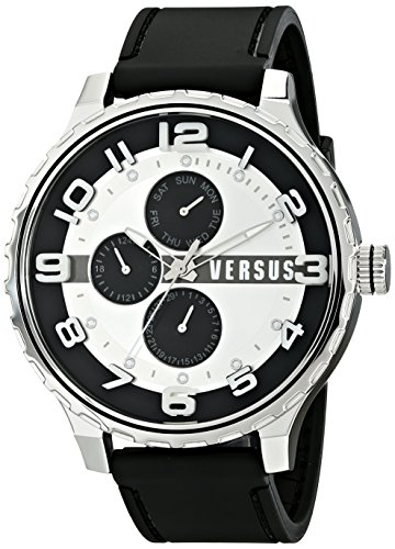 Versus by Versace Men's SBA020014 Globe Analog Display Quartz Black Watch