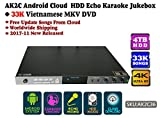 ACEUME AK2C Android Cloud ECHO HDD Karaoke Jukebox/Player with 33K Vietnamese MKV DVD HD Songs,4TB HDD,2017 December updated,AK2C36,4K,Cloud download, KODI, Watch TV, Select songs via mobile device.