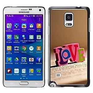 "For Samsung Galaxy Note 4 , S-type Amor Amor"" - Arte & diseño plástico duro Fundas Cover Cubre Hard Case Cover"