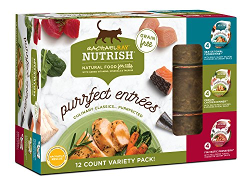 Rachael Ray Nutrish Purrfect Entrees Grain Free Natural Wet Cat Food Variety Pack
