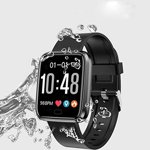 (Fashion Smart Watch Sports Fitness Activity Heart Rate Tracker Blood Pressure Watch - Multipurpose (Black))