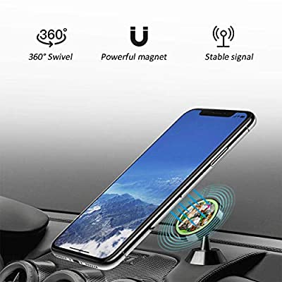Magnetic Phone Holder Water Lily Kitten Butterfly Adjustable 360? Rotation Universal Car Mount Cell Phone Stand for Phone X/6/6s/7/8/8 Plus/7, Galaxy S9/S9 Plus/S8/S7
