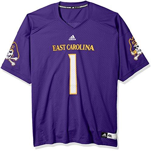 adidas NCAA East Carolina Pirates Adult Men NCAA Replica Football Jersey, Large, Collegiate Purple Purple Premier Football Jersey